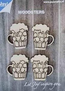 Bilde av Joy! Crafts Woodsters - Beer mugs 6320/0017 4st.