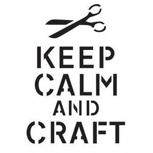 Bilde av Imagination Crafts - Mini Stencil - ST Keep Calm