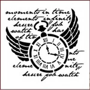 Bilde av Imagination Crafts - Stencil - ST Time