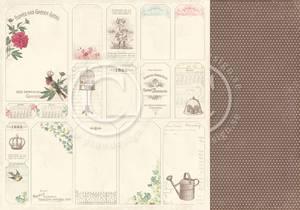 Bilde av Pion Design - Vintage Garden - Tags
