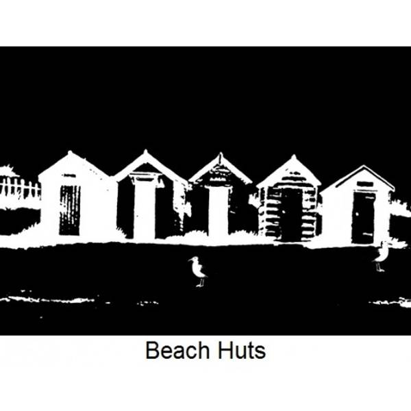 Imagination Crafts - Art Stamps - Beach huts