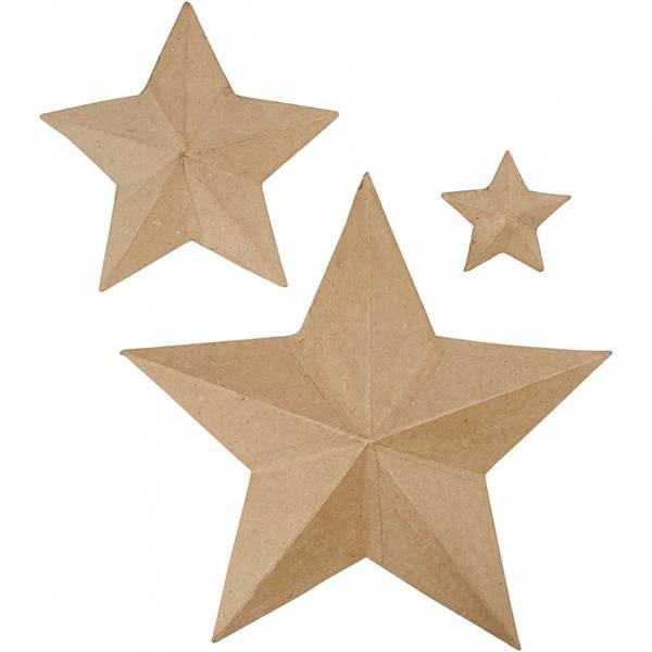 Stjerner, H: 11+19,5+31,5 cm, 3 Stk.
