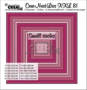 Bilde av Crealies Crea-Nest-Lies XXL nr 81 Square - små