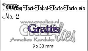 Bilde av Crealies text dies - Grattis