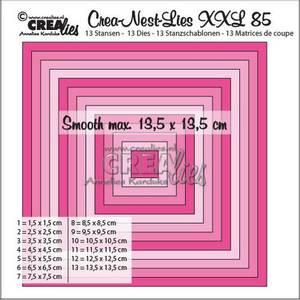 Bilde av Crealies Crea-Nest-Lies XXL no 85 smooth squares