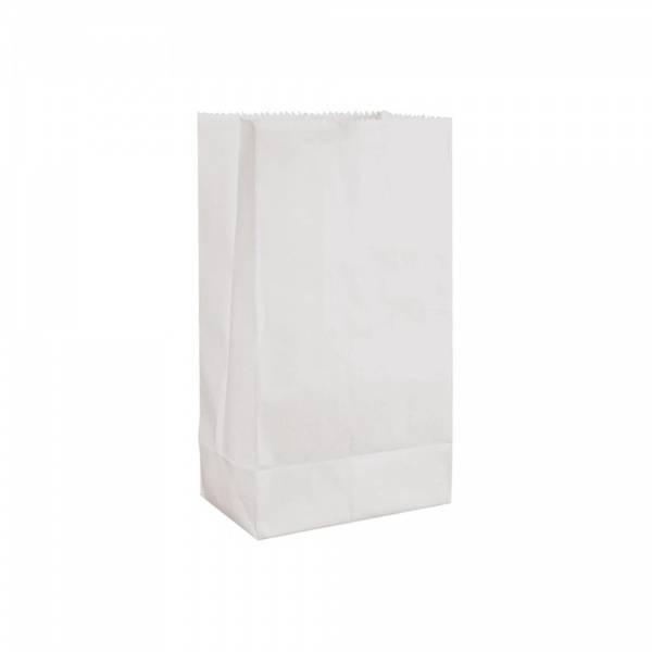 Papirpose Hvit 11 x 20,3