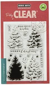 Bilde av Hero Arts Poly Clear - Christmas Tree Stamp + Die