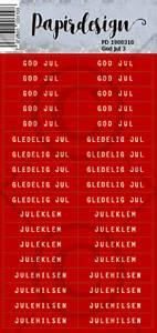 Bilde av Papirdesign Klistremerker - God Jul 3