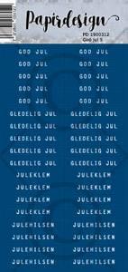 Bilde av Papirdesign Klistremerker - God Jul 5, blå