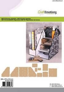 Bilde av Craft Emotions - MDF 3D desk organiser