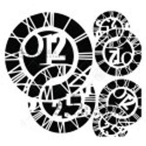 Bilde av AB Studio stensil - Clocks