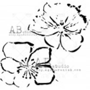 Bilde av AB Studio stensil - Two Flowers