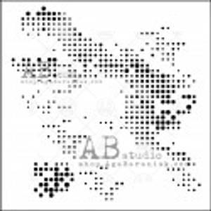 Bilde av AB Studio stensil - Small dots