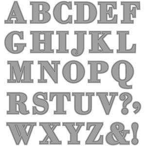 Bilde av Creotime Dies - Alfabet, 2x1,5-2,5 cm.