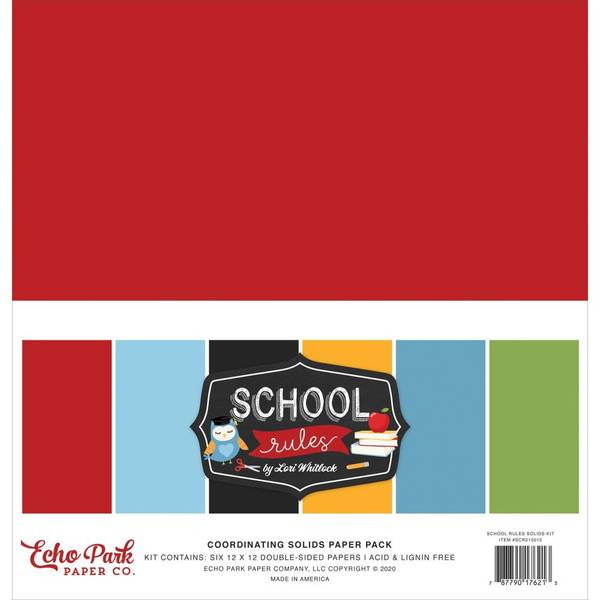 Echo Park 12X12 - School Rules Solids