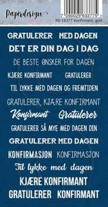 Bilde av Papirdesign Klistremerker - Konfirmant, gutt