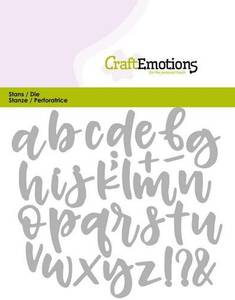 Bilde av CraftEmotions - Alphabet Handlettering Lowercase