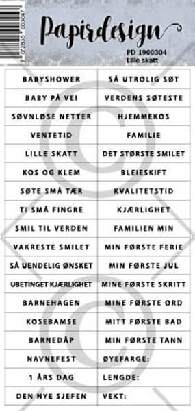 Papirdesign Klistremerker - Lille skatt