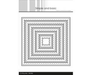 Bilde av Simple and Basic - Inner Scallop Square Dies