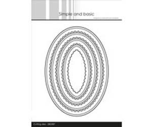 Bilde av Simple and Basic - Inner Scallop Oval Dies