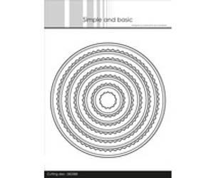 Bilde av Simple and Basic - Inner Scallop Circle Dies