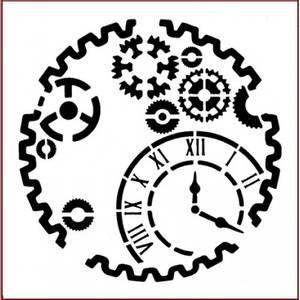 Bilde av Imagination Crafts - Stencil - ST Gears