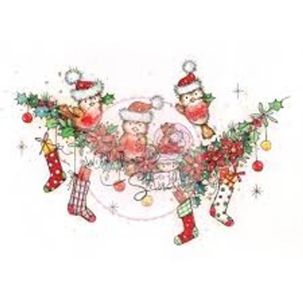 Wild Rose Studio - Christmas Robin