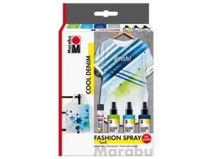 Bilde av Marabu Fashion Spray Set – COOL DENIM colour