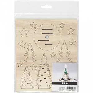 Bilde av Sett sammen-selv trefigurer, juletrær