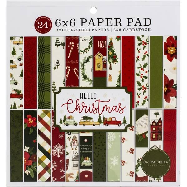 Carta Bella Hello Christmas 6x6 tommers arkpakke