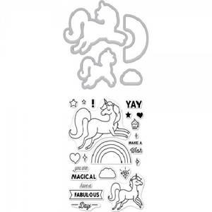 Bilde av Hero Arts Stamp & Cut - Unicorn