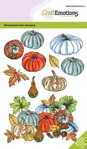 Bilde av CraftEmotions clearstamps A6 - Pumpkins and