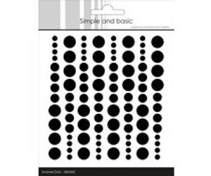 Bilde av Simple and Basic Adhesive Enamel Dots Jet Black