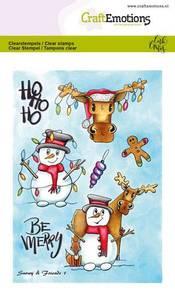 Bilde av CraftEmotions clearstamps A6 - Snowy & Friends 1