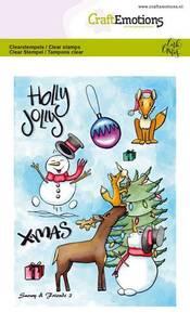 Bilde av CraftEmotions clearstamps A6 - Snowy & Friends 2