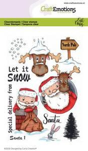 Bilde av CraftEmotions clearstamps A6 - Santa 1