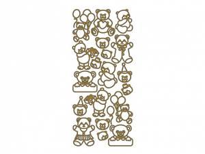 Bilde av Klistremerker bamser gull