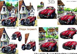 Bilde av 3D ark - gammele biler