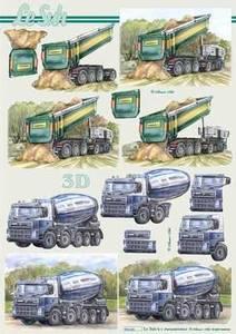 Bilde av 3D ark - Anleggsbiler