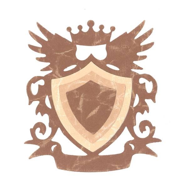 Sizzix Framelits Die – Shield w/Crown & Wings 3stk