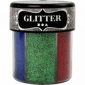 Bilde av Glitter, ass. farger, 6x13g