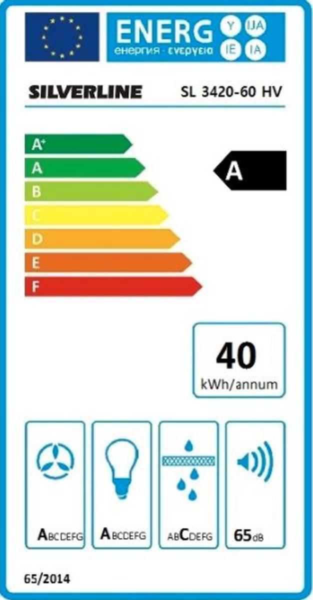 Silverline VentilatorVegghengt 60 cmHVIT OPTIMASL 3420-60 HV