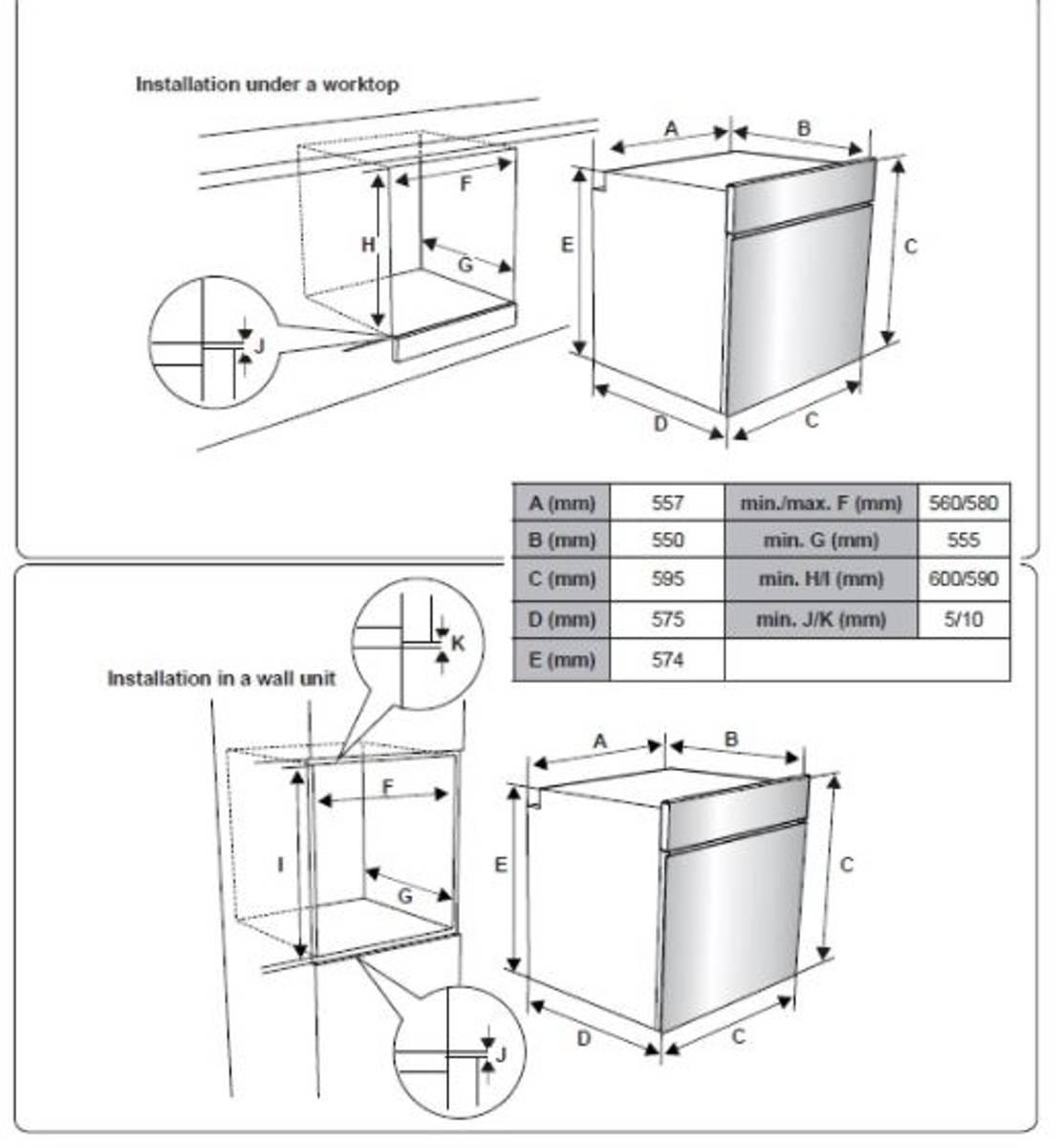 Silverline integrert stekeovn sortBO 7001 SR