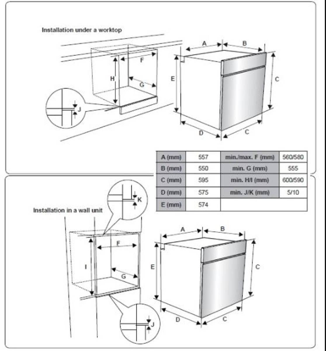 Silverlineintegrert stekeovn pyrolyse SvartBO 7005 SR