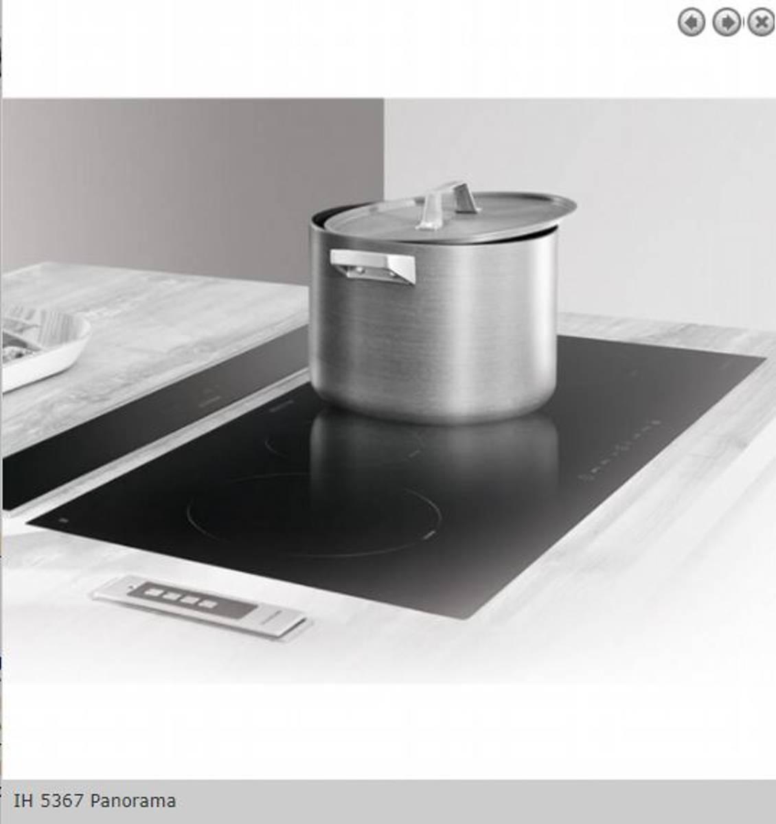 Silverline induksjon platetopp 90 cm svartPanoramaIH 5367