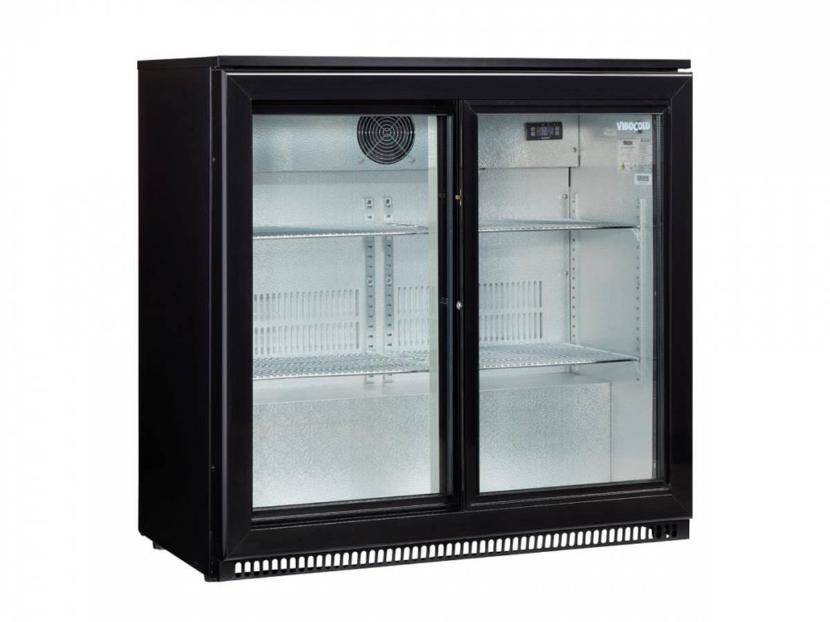 VibocoldBar kjøleskap VBB 2 S TOPP med 2 selvlukkende glassdøre