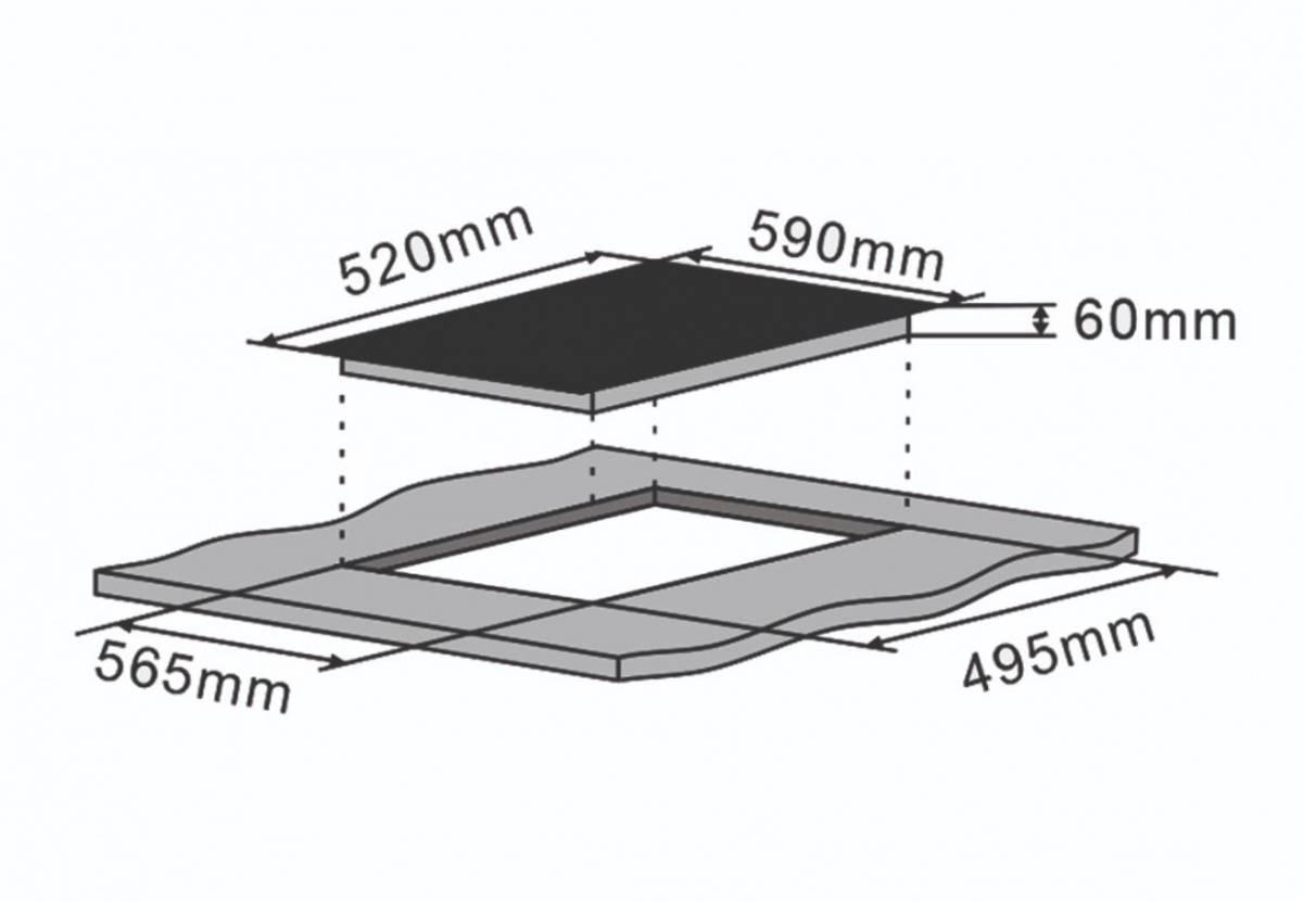 SilverlineInduksjon platetopp 60 cm svartJI 6001 P