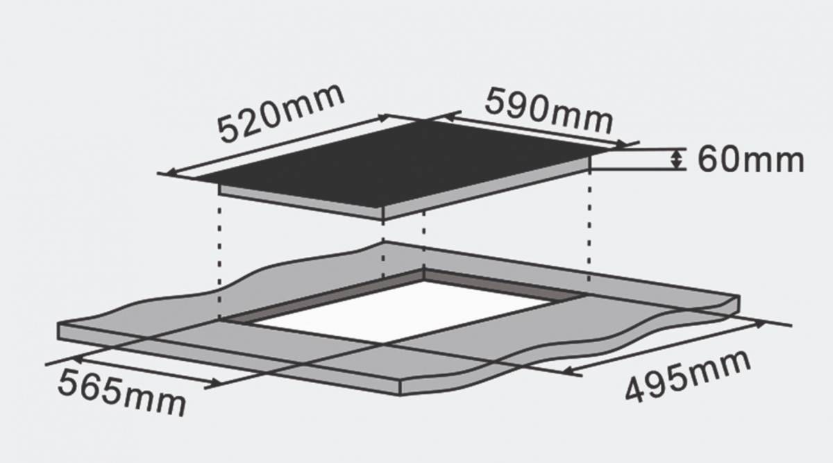 SilverlineInduksjon platetopp 60 cm SvartJI 6011 P