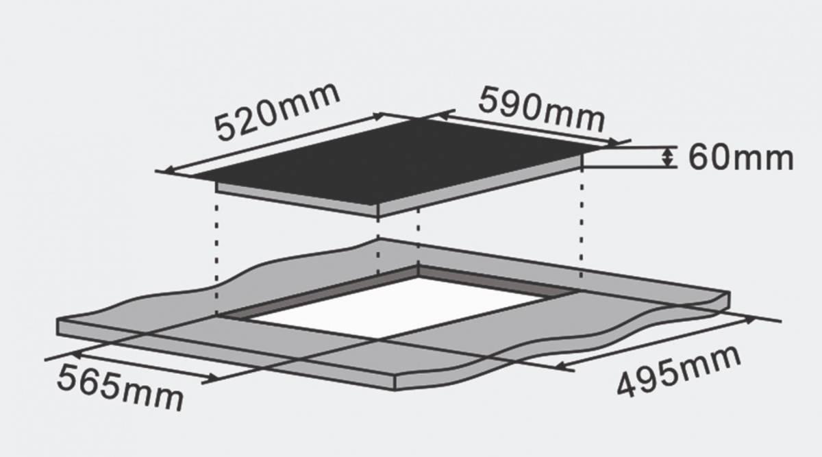 Silverline Induksjonsplatetopp Svart 60 cmJI 6021 F