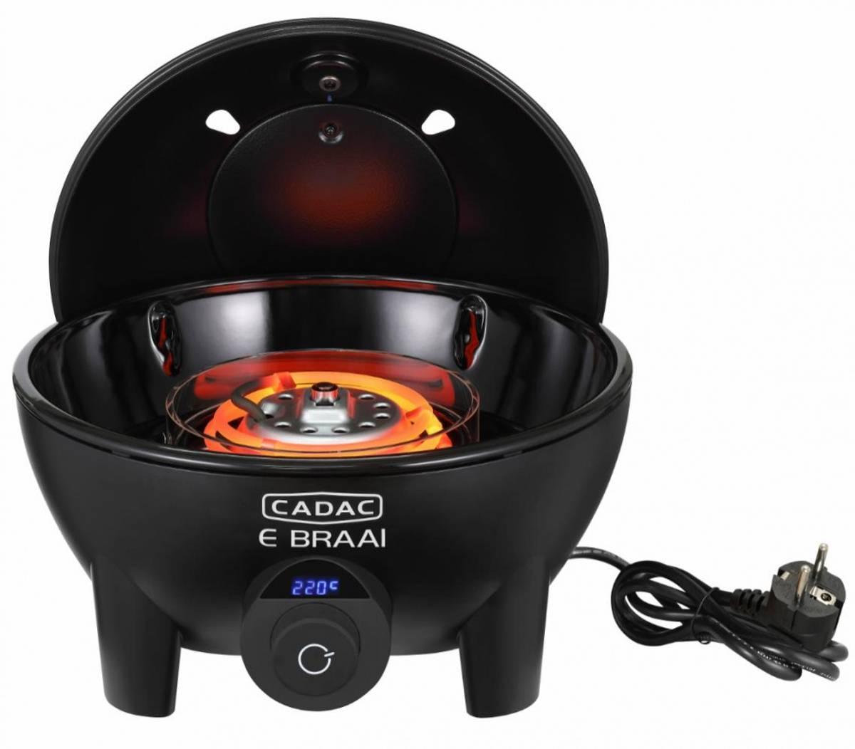 Cadac E-BRAAl elektrisk grill Ø40 bordmodell stor varmekapasitet